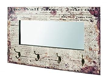 Perchero de Pared con Espejo Journal en Vintage Diseño ...