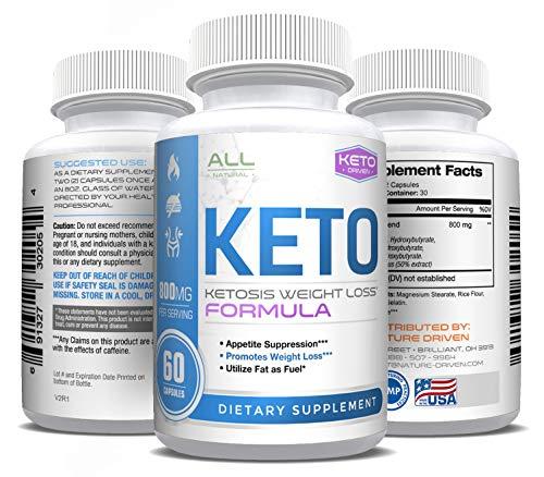 Shark Tank Keto Pills – Weight Loss for Men and Women – Ketosis Fat Burn – BHB Salts – Boost Energy