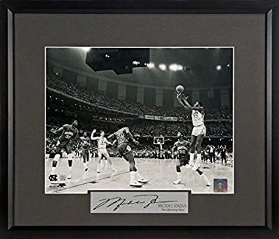 "Michael Jordan Signature Series 11x14 Photo Framed ""Winning Shot"" UNC"