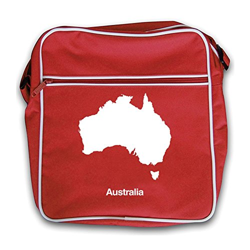 Australia Flight Retro Silhouette Red Bag wAZfz6