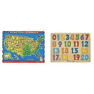 Melissa and Doug U.S.A. Sound Puzzle & UG Numbers Sound Puzzle