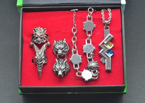 Topbill-Anime-Final-Fantasy-FF14-Ring-Necklace-Set-Cosplay