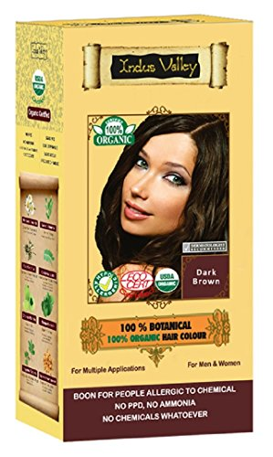 100% Organic 100% Botanical Natural Herbal Hair Dye Colour For Men and...