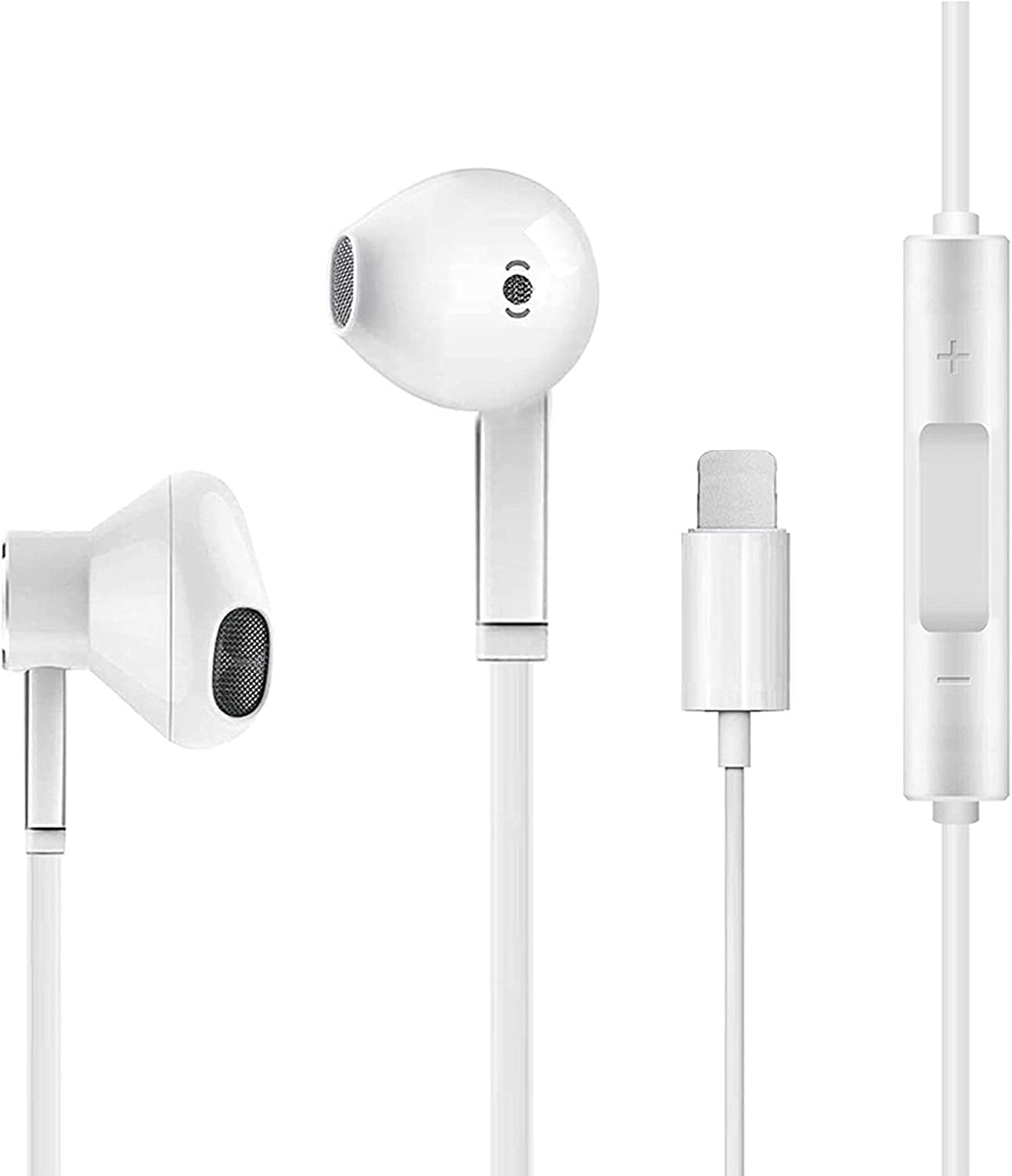 Earbuds Earphones Wired Stereo Sound Headphones [Apple MFi Certified] for iPhone with Microphone and Volume Control,Active Noise Cancellation Compatible with iPhone 11Pro/12/7/8plus/X/iPod/xs