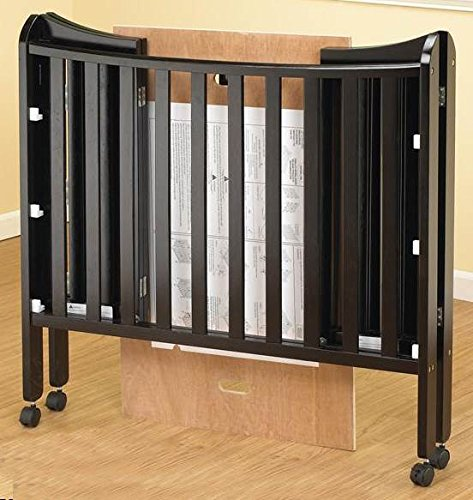 Orbelle Trading The Tian 3 in 1 Portable Crib with Two Levels, Espresso