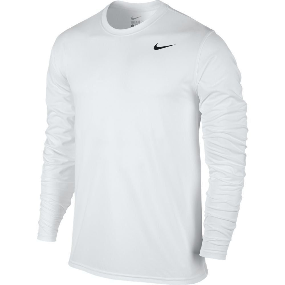 847add38dcd99c Galleon - NIKE Mens Legend 2.0 Long Sleeve Dri-Fit Training Shirt  White/Black 718837-100 Size X-Large