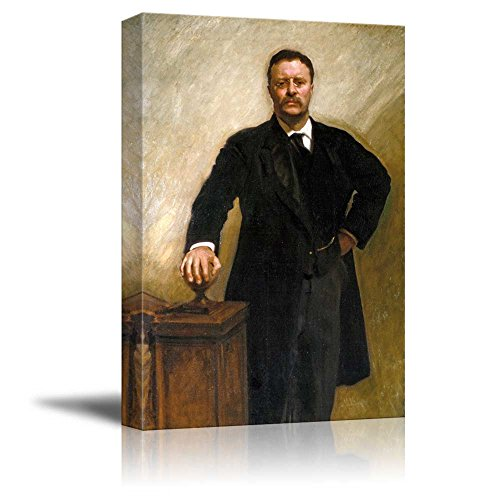 Portrait of President Theodore Roosevelt - Inspirational Famous People Series | Giclee Print Canvas Wall Art. Ready to Hang - 16