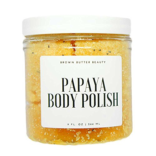 - Body Scrub Exfoliator | Papaya Body Polish | Gentle Scrub for Sensitive Skin | Sugar Scrub