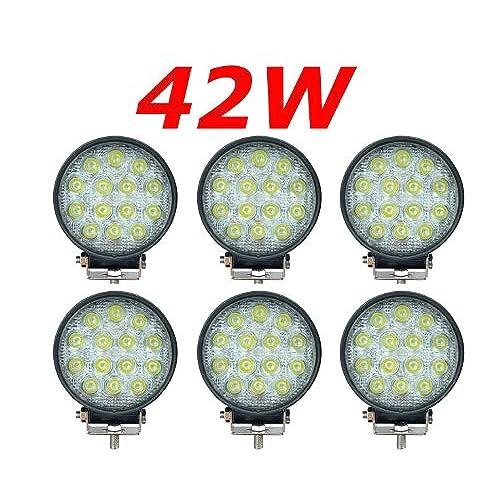 Miracle Rond Lampe Led 6x42w Quad Portée 12v Phares 24v Longue OkiTZPXu