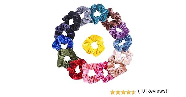 Frcolor Scrunchies 15 unidades, bandas elásticas para el pelo, coleta de caballo, accesorios para niñas y mujeres: Amazon.es: Belleza