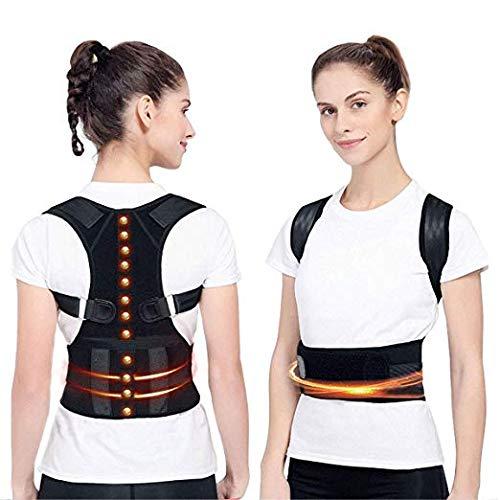 Adjustable Back Posture Corrector Magnetic Therapy Posture Corrector Brace Shoulder Back Brace Support Belt NO Slouching-Fully Adjustable Back Brace(S (25