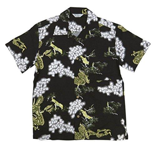 パワー方言お金(スタイルド バイ オリジナルズ) Styled by Originals 龍松 半袖 レーヨン100% 和柄 アロハシャツ