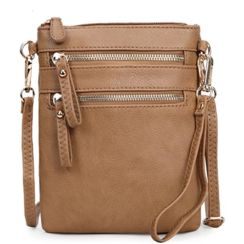 Faux Leather Detachable Solene Multi Stone Wristlet Crossbody Zipper Organizer With Women's Handbag Pockets Bag 5qEUnExz6w