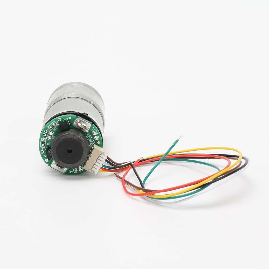 100RPM Yangge Yujum 6V BM25GA310 autoblocante codificador Del Motor de engranajes de Metal de desaceleraci/ón Del Motor 20 RPM 70RMP 40RMP 300RMP