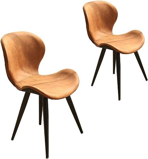 WQQDDP\Silla de comedor Set de 2 sillas de Hierro Forjado de café ...