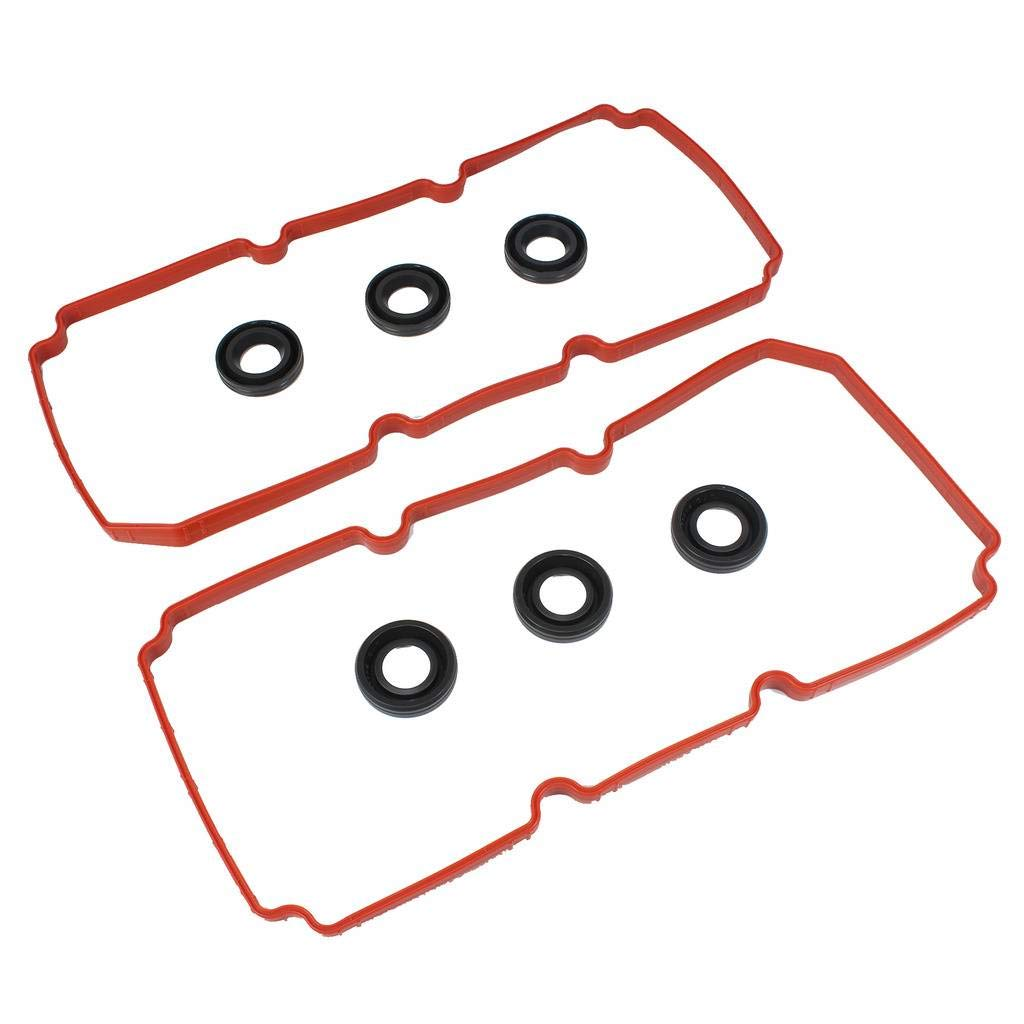DNJ VC1151G Valve Cover Gasket Set W/Grommets for 2007-2011 / Chrysler, Dodge, Volkswagen / 300, Avenger, Challenger, Charger, Grand Caravan, Journey, Magnum, Pacifica, Sebring, Town & Country / 3.5L DNJ Engine Components