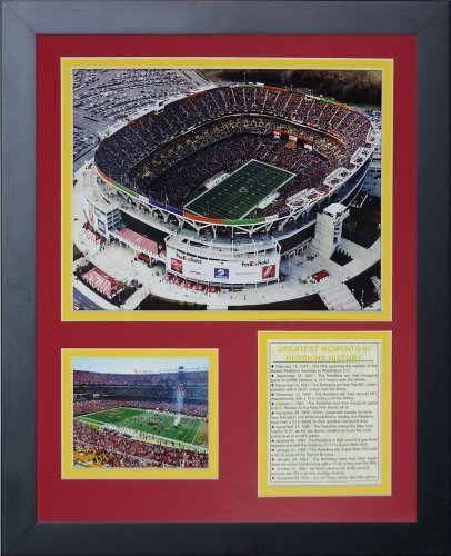 Legenden Sterben Nie Washington ROTskins, FedEx Field gerahmtes Foto Collage, 11 x 35,6 cm von Legends Never Die