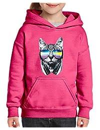 Xekia Cool Cat Headphones Sunglasses Hoodie Girls Boys Youth Kids