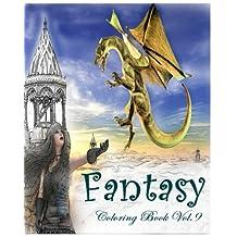 Fantasy : Coloring Book Vol.9: Fairy Fantasy: Adult Coloring Book