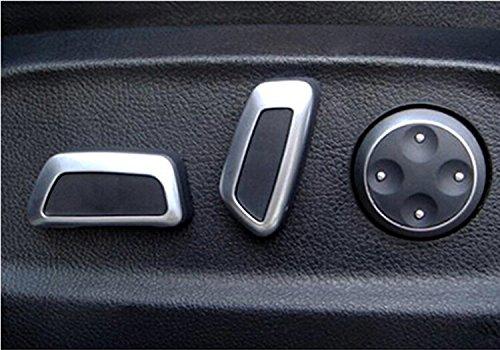 Car Styling Seat Adjustable Switch 6pcs Black Matte Chrome for Audi Q5 A4L A6L C7 A7 vw Volkswagen Tiguan CC Passat B7