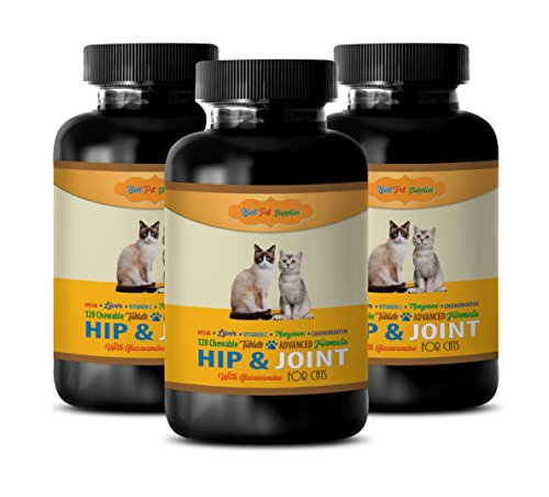 BEST PET SUPPLIES LLC cat bone support – PREMIUM HIP AND JOINT SUPPORT – CATS HEALTH – MOBILITY SUPPORT – cat liver support food – 360 Chews (3 Bottle)