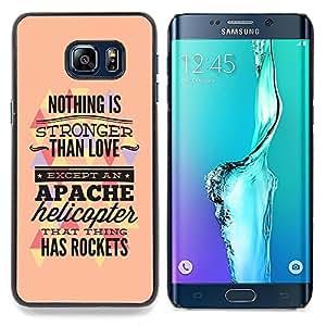 """Qstar Arte & diseño plástico duro Fundas Cover Cubre Hard Case Cover para Samsung Galaxy S6 Edge Plus / S6 Edge+ G928 (Nada es más fuerte que el amor"""")"""