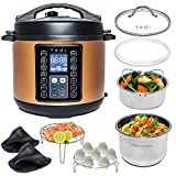 Yedi Houseware 9 in 1 Total Package Instant Programmable Pressure Cooker, 6 Quart, Copper (Renewed)