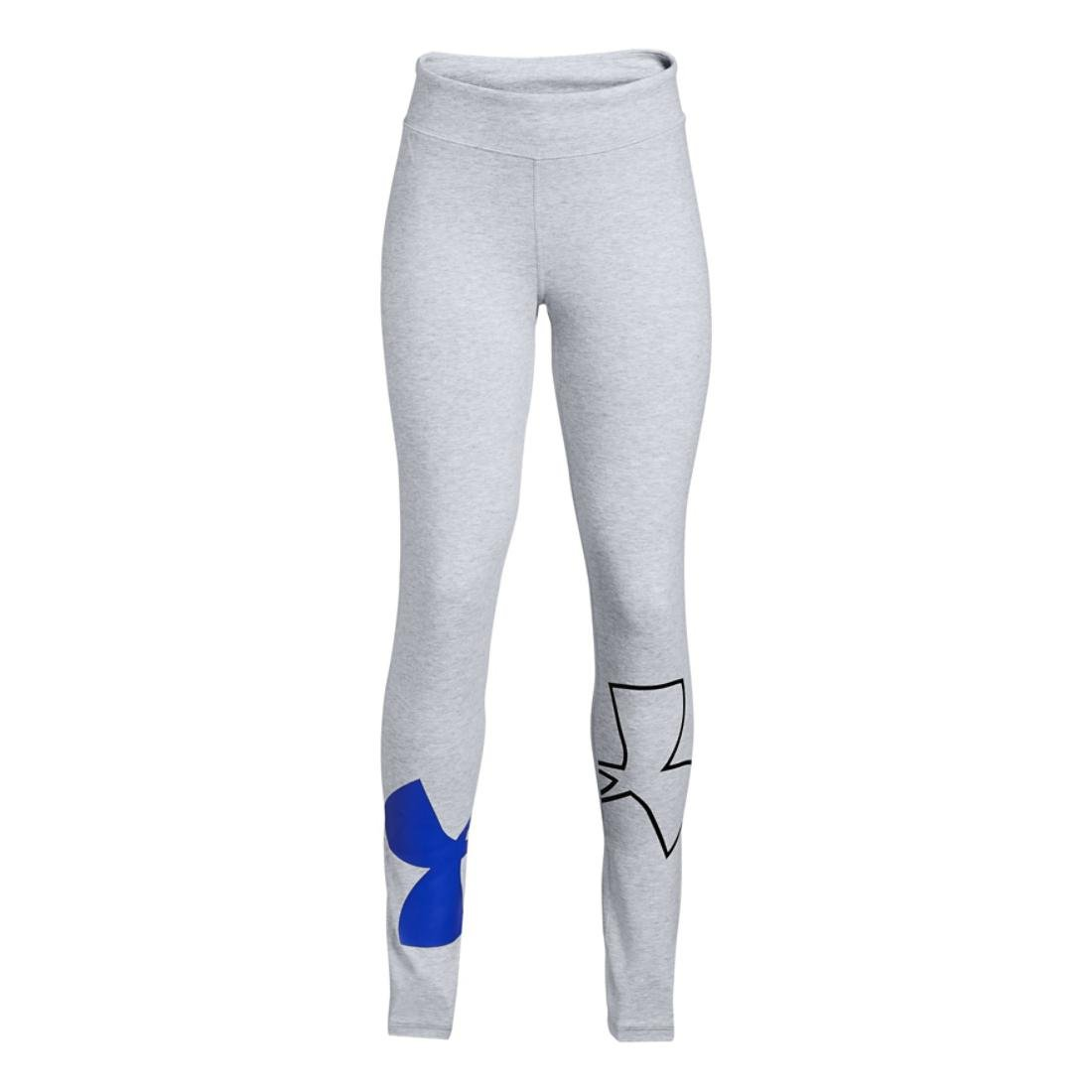 Under Armour Girls UA Favorite Knit, Grey/Purple/Black, YL by Under Armour