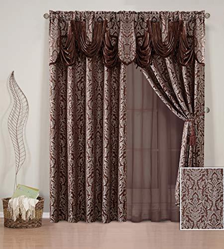 Sapphire Home Jacquard Window Curtain Drape Panels 84