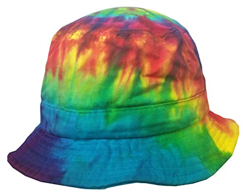 Hat Kids Dyed - Colortone Bucket Hats Adult Reactive Rainbow