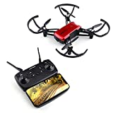 WiFi FPV RC Drone,Rcharlance FPV Camera Drone 720P HD Camera Live with Adjustable Wide-angle Lens,Altitude Hold,Gravity Sensor Function,Headless Mode,One Key Take Off & Land,3D Flip & APP Control Red
