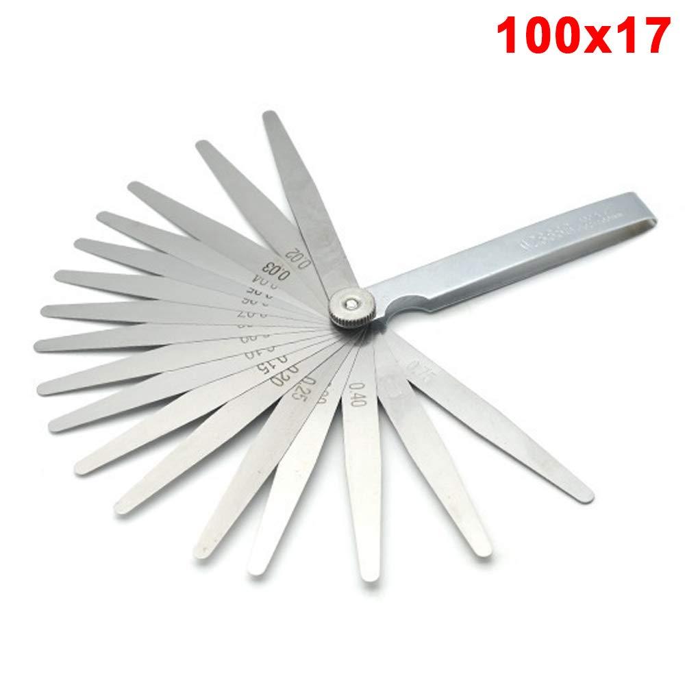 XUPHINX Herramienta de medici/ón m/étrica de galga de espesores de acero inoxidable para medir tama/ños de ancho//espesor 20 cuchillas