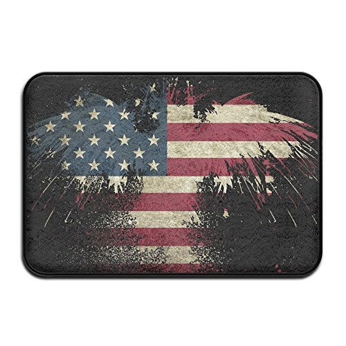 - HOMESTORES American Eagle Art USA Flag Bath Mat Shower Spa Rug For Bathroom Tub Indoor Outdoor Entrance Door Mats - Quick Dry Absorbent Non Slip Backing 17x24 Inch