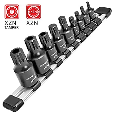 CARBYNE 9 Piece XZN Triple Square Bit Impact Socket Set, 4mm to 18mm | Chrome Molybdenum Steel: Home Improvement