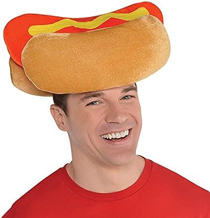 Adult Unisex Hot Dog Hat Hotdog Weiner Cap Halloween Costume Womens Mens NEW