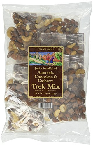 Trader Joes Just a Handful of Simply Almonds, Cashews & Chocolate Trek Mix