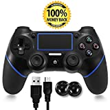 Cheap PS4 Controller, TONSUM Bluetooth Gamepad Six Axies DualShock 4 Wireless Controller for PlayStation 4, Touch Panel Joypad with Dual Vibration, Instantly Timely Manner To Share Joystick UPDATE FIRMWARE