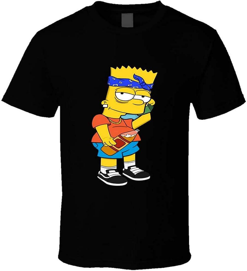 Yszm Bart Simpson Gangster T Shirt Black Amazon Ca Clothing Accessories Kick buttowski vs bart simpson   batalha de rap(rap battle). yszm bart simpson gangster t shirt