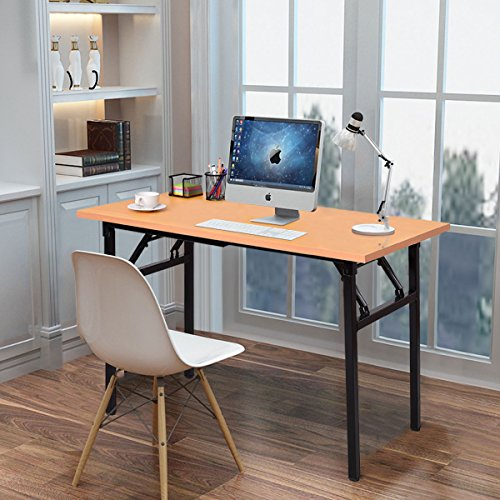 Tangkula Computer Desk Folding Table Home Office Folding Desk Workstation by Tangkula