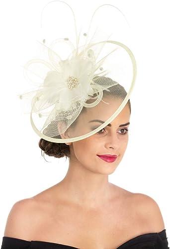 New Fuschia Pink 25cm Fascinator /& Band Clip Weddings Races Ascot Kentucky Derby