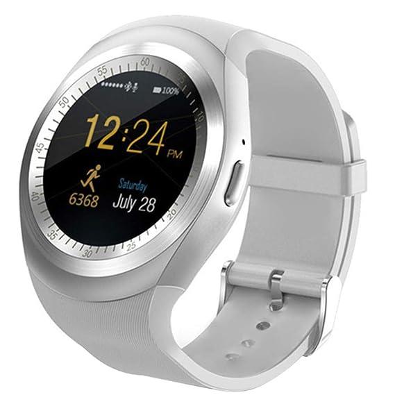 Amazon.com: Y1 Smart Watch Bluetooth Phone Mate Round Screen ...