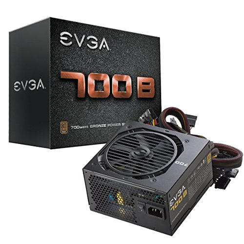 EVGA 700 B1, 80+ BRONZE 700W, 3 Year Warranty, Includes FREE Power On Self Tester Power Supply 100-B1-0700-K1 (Poder Fuente Pc De)