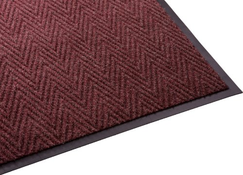 Guardian Golden Series Chevron Indoor Wiper Floor Mat, Vinyl/Polypropylene, 3'x6', Red