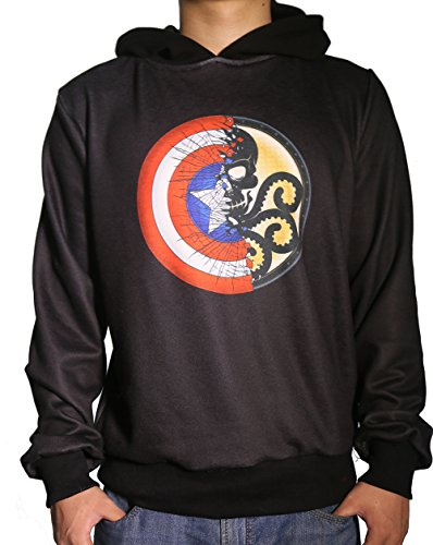XCOSER Captain Sweatshirt Hydra Hoodie Costume of Cosplay Custom Made (Custom Made Captain America Costume)