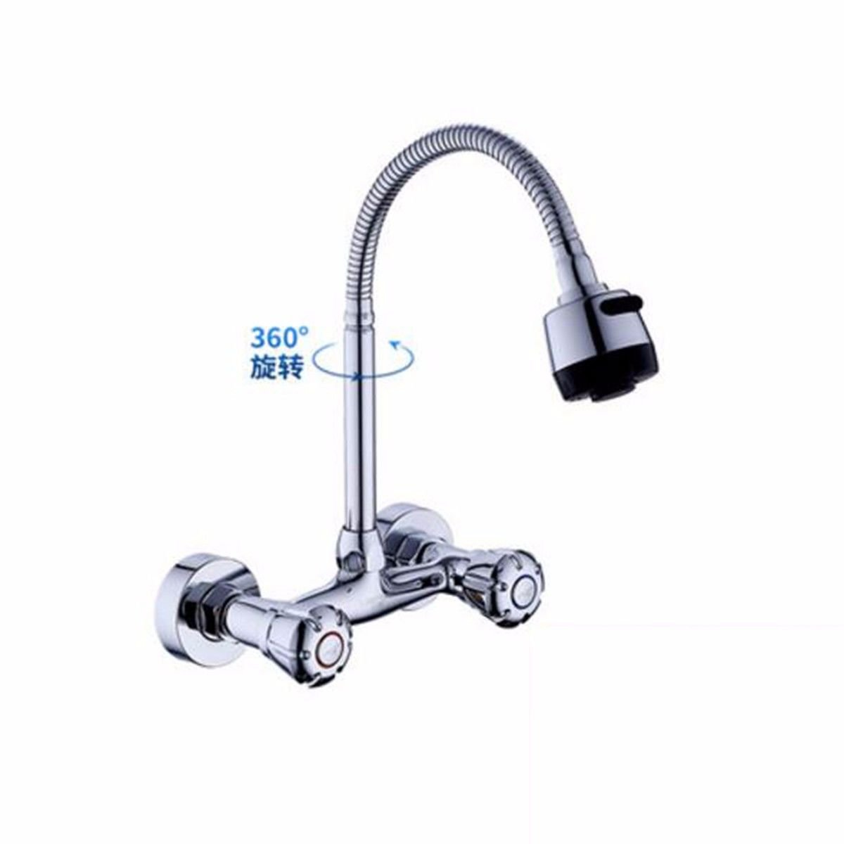 ETERNAL QUALITY Bathroom Sink Basin Tap Brass Mixer Tap Washroom Mixer Faucet The copper INTO THE WALL MOUNTED KITCHEN FAUCET hot and cold dishes-basin sink balcony laund