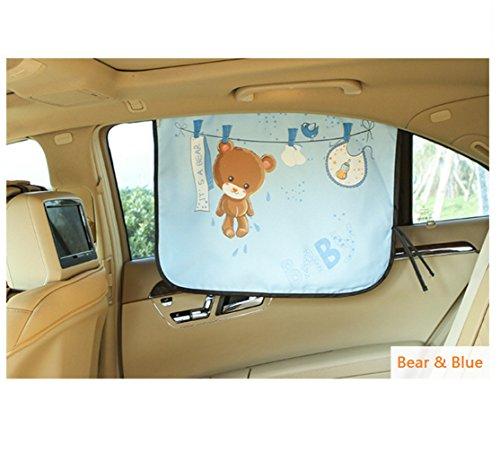 Mocase Cute Car Window Shade Magnetic Sun Block (Bear)
