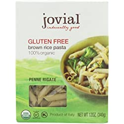 Jovial Organic Brown Rice Penne Rigate, 12-Ounce Packages (Pack of 6)