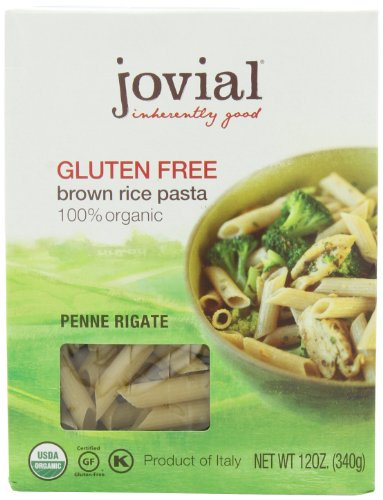 Jovial Organic Brown Rice Penne Rigate, 12-Ounce Packages (Pack of 6) ()