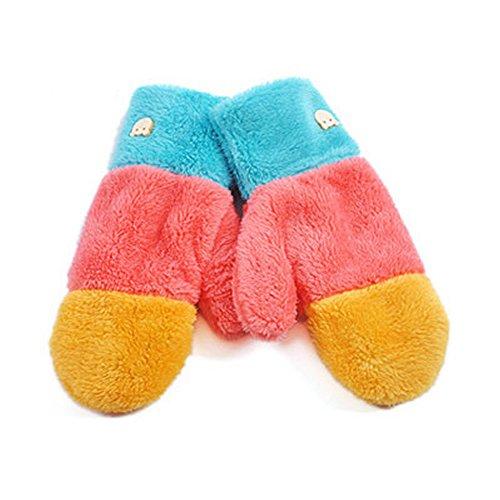 AStorePlus Korea Stylish Thick Plush Glove Soft Winter Warm Fluffy Full Finger Mittens Gloves, Color 3