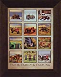 Faith, Family & Farming by Lori Deiter 16x20 John Deere International Farmall Case Allis-Chalmers Tractor Collage Photo Farm Framed Art Print Picture